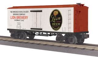 30-78217 O Scale MTH RailKing 19th Century Reefer Car-Lion Beer Car No. 40165