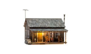 BR5065 HO Scale Woodland Scenics Rustic Cabin