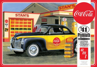 AMT1197M AMT '41 Plymouth Coupe Coca-Cola 1/25 Scale Plastic Model Kit