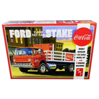 AMT1147 AMT Ford C-600 Tilt Cab Stake Truck Coca-Cola 1/25 Scale Plastic Model Kit