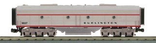 30-20620-3 O Scale MTH RailKing E-8 B-Unit Diesel Engine(Non-Powered)-Burlington(Plated) Cab No. 9937