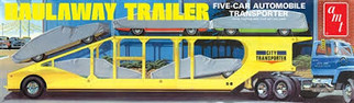 AMT1193 AMT Haulaway Trailer Five-Car Automobile Transporter 1/25 Scale