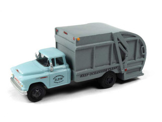 30590 HO Scale Classic Mini Metals 1957 Chevy Garbage Truck-Oceanside