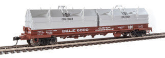 920-105211 HO Scale WalthersProto 50' Evans Cushion Coil car-Bessemer & Lake Erie #6000
