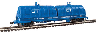 920-105225 HO Scale WalthersProto 50' Evans Cushion Coil Car-Grand Trunk Western #101144