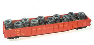 7236 HO Scale Chooch Enterprises Heavy Tire Load for Open Cars