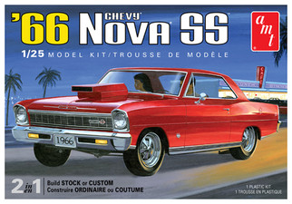 AMT1198 AMT '66 Chevy Nova SS 2 in 1 1/25 Scale Plastic Model Kit
