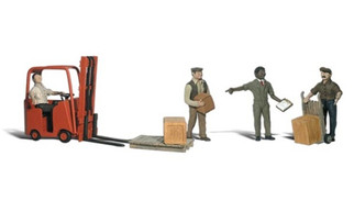 A2744 Woodland Scenics O Workers With Forklift