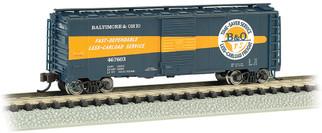 17064 N Scale Bachmann AAR 40' Steel Box Car-Baltimore & Ohio Timesaver #467603