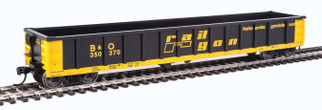 910-6203 HO Scale Walthers MainLine 53' Railgon Gondola-Baltimore & Ohio #350370