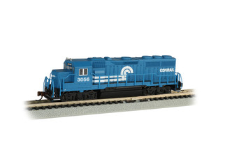 63566 N Scale Bachmann EMD GP40 w/Operating Headlights-Conrail #3056
