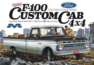 1236 Moebius 1966 F-100 Custom Cab 4X4 1/25 Scale Plastic Model Kit