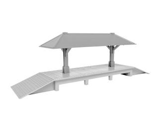 1920010 S Scale American Flyer Station Platform Kit