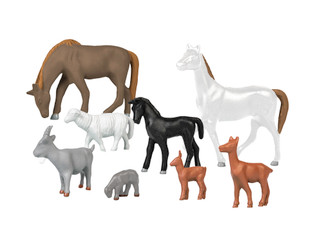 1957240 HO Scale Assorted Livestock