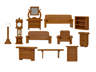 1957250 HO Scale Furniture Set