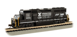 63565 N Scale Bachmann EMD GP40-Norfolk Southern Operation Lifesaver #3053