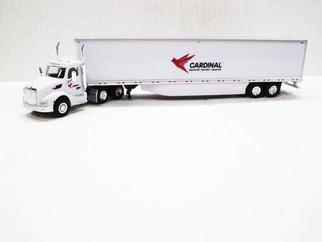 TNS149 HO Scale Trucks N Stuff Kenworth T680 Day Cab Tractor w/53' Dry Van Trailer assembled-Cardinal Logistics