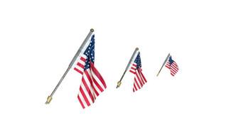 JP5954 O,HO,N Scale Woodland Scenics US Flag Wall Mount Medium