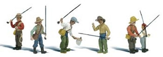 A2215 N Scale Woodland Scenics Fly Fisherman