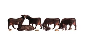 A2217 N Scale Woodland Scenics Black Angus Cows