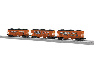 2026730 O Scale Lionel Waddell Coal Hopper 3-Pack
