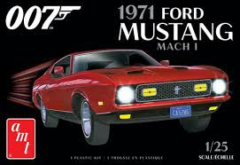 AMT1187 AMT 1971 Ford Mustang Mach I (007) 1/25 Scale Plastic Model Kit