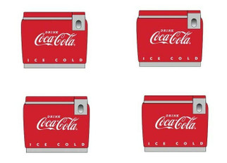 20249 HO Scale Classic Metal Works '50s/'60s Coca-Cola Chest Cooler