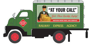 """TC300 O Scale Classic Metal Works 1948 Box Truck-REA """"At Your Call"""""""