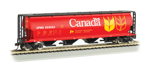 19131 HO Scale Bachmann Cylindrical Grain Hopper-Canada Grain
