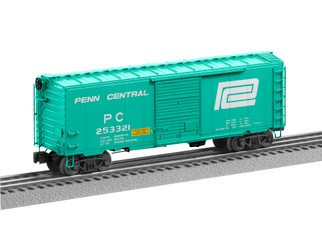 """2026180 O Scale Lionel Penn Central """"Flat Spot"""" FreightSounds Boxcar #253321"""