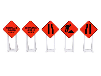 2030240 O Scale Lionel Construction Signs 5-Pack