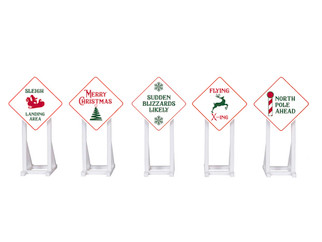 2030260 O Scale Lionel Christmas Signs 5-Pack