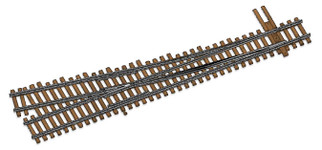 948-83014 HO Scale WalthersTrack Code 83 Nickel Silver DCC Friendly Number 4 Turnout Right