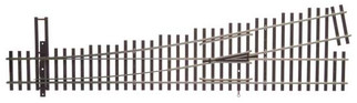 948-83015 HO Scale WalthersTrack Code 83 Nickel Silver DCC Friendly Number 5 Turnout Left