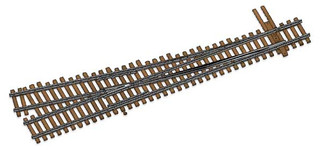 948-83016 HO Scale WalthersTrack Code 83 Nickel Silver DCC Friendly Number 5 Turnout Right