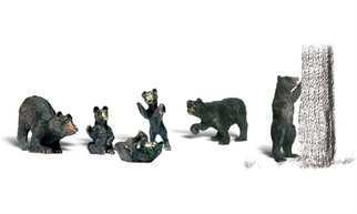 A2186 N Scale Woodland Scenics Black Bears