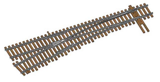 948-83017 HO Scale WalthersTrack Code 83 Nickel Silver DCC Friendly Number 6 Turnout-Left