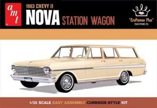 AMT1202 AMT 1963 Chevy II Nova Station Wagon 1/25 Scale Plastic Model Kit