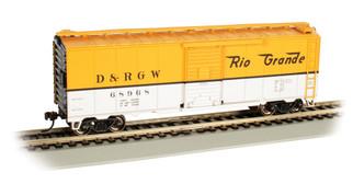 16006 HO Scale Bachmann D & RGW #68968-40' Box Car
