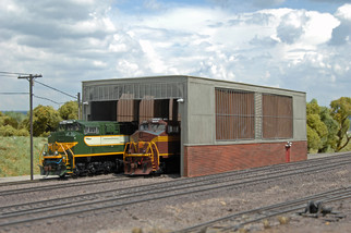 35116 HO Scale Double Stall Shed