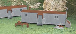 45176 HO Scale Railroad Work Sheds (2)