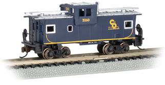 70762 N Scale Bachmann Chesapeake & Ohio #3260 36' Wide Vision Caboose