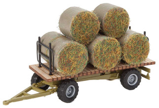 949-4192 HO Scale Walthers SceneMaster Hay Trailer w/Load