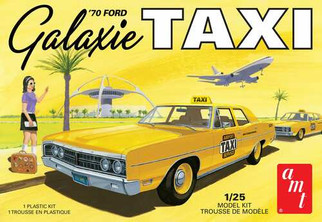 AMT1243 AMT '70 Ford Galaxie Taxi 1/25 Scale Plastic Model Kit