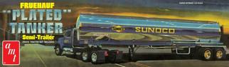 AMT1239 AMT Fruehauf Plated Tanker Semi-Trailer - Sunoco 1/25 Scale Plastic Model Kit