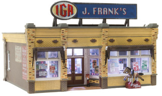 BR4941 N Scale Woodland Scenics J. Frank's Grocery