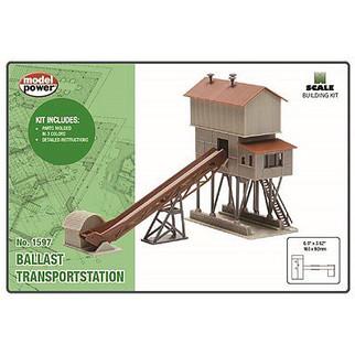 1597 N Scale Model Power Ballast Transport Station Kit