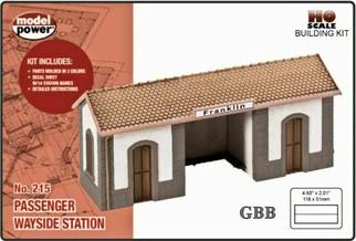 215M HO Scale Model Power Wayside Station Kit