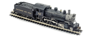 876231 N Scale Model Power B&O 4-4-0 American DCC & Sound Equipped