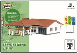1596 N Scale Model Power Service Station & Mart Kit